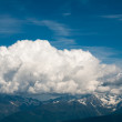 View from the highest mountain. Alps, France — Stock Photo