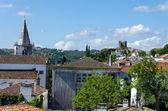 从山顶的欧洲乡村景色。葡萄牙奥比都斯 — 图库照片