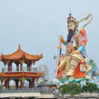 Stock Photo: Huge statue of emperor in park. Taiwan