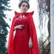 Stock Photo: Queen in red cloak