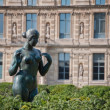 Statue of young naked womon Champs Elysees. Paris, France — Stock Photo #40398515