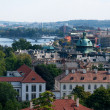 Panoramic view of the European city from the hill, Prague — Stock Photo #40400941