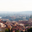 Panoramic view of the European city from the hill, Prague — Stock Photo #40401223