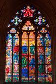 Mozaikové okno uvnitř kostela — Stock fotografie