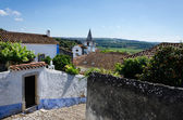 European village view from the hill. Obidos, Portugal — Stock Photo