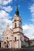 Catholic Church on the square — Stock Photo