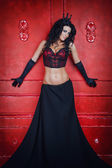 Fashion queen woman in a luxurious lingerie — Stock fotografie