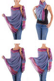 стильный женственный шарф с восточным узором — Стоковое фото