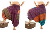 Sarouel multicolore avec motif indien — Photo