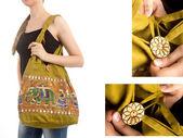 Eleganta indiska handväska — Stockfoto