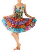 Vacker klänning med orientaliska prydnad — Stockfoto