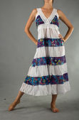Beautiful Dress with Oriental Ornament — Stock Photo