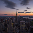New York cityscape at dusk — Stock Photo