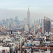 New York City Manhattan View in the fog — Stock Photo
