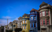 Colorful Victorian Row Houses — Stock Photo