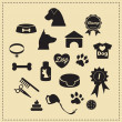 Stock Vector: Dog icons