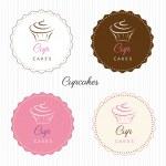 Cupcakes logo — Stock Vector #33525287