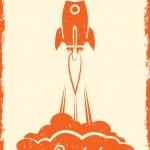 Rocket poster — Stockvector