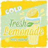 Lemonade label, poster — Stock Vector