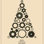 New year Christmas card — Stock Vector