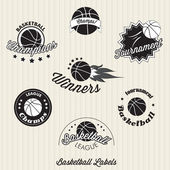 Basketball labels, badges — Stock Vector