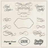 Frames and swirls for decoration hand drawn vector illustration — Vetor de Stock