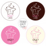 Cupcakes logo — Stock Vector #34154401