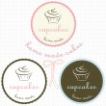 Cupcake logo set — Stockvektor  #34467055