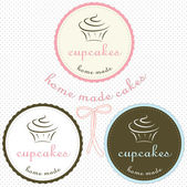 Cupcake logo set — Stock Vector