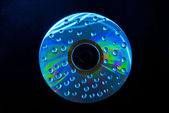 Wet cd drops — Stock Photo