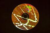 Wet cd drops — Stock Photo