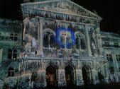 25 Oct 2013, Rendez-Vous Bundesplatz, light and sound show, Bern, Switzerland — Stock Photo