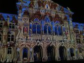 25 Oct 2013, Rendez-Vous Bundesplatz, light and sound show, Bern, Switzerland — Stock Photo