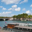 Paris. Seine river side. — Stock Photo