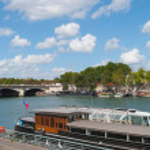 Paris. Seine river side. — Stock Photo