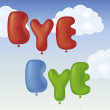 Bye bye — Stock Vector