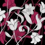 Flower on black background — Stock Vector #33682889