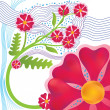 Flower with Heart  — Imagen vectorial
