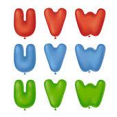 Baloon font uvw — Stockvector