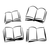 Sketch of books — Stock Vector