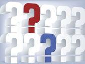 Question wall concept — Stock Vector