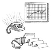 Satz von office-objekte — Stockvektor