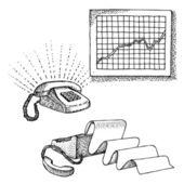 Insieme di oggetti di office — Vettoriale Stock