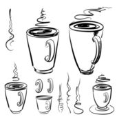 Sketch of mugs — Stock Vector