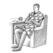 Hombre enfermo — Vector de stock