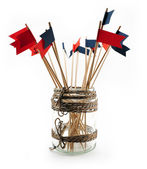 Flags for decoration — Stock Photo