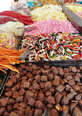 Candies in market — Stockfoto
