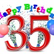 Happy 35th birthday — 图库照片