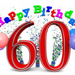 Happy 60th birthday — Stock Photo #33681597
