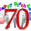 Stock Photo: Happy 70th birthday